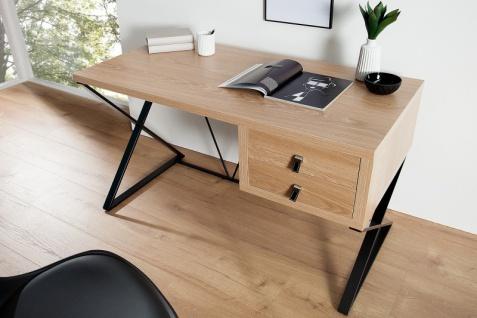 Casa Padrino Schreibtisch Eiche 120cm mit 2 Schubladen - Designer Kollektion - Vorschau 3