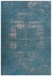Casa Padrino Wohnzimmer Teppich Vintage Blau - Verschiedene Größen - Deko Accessoires