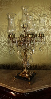 Casa Padrino Barock Kristall Hockerleuchte - H 86 cm - Antik Stil - Luxus Kollektion