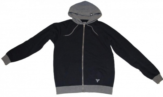 Fallen Skateboard Pullover Zip Hoodie Dark Blue/Grey Sweater