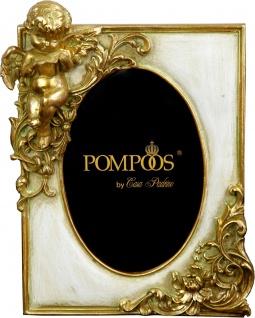 Pompöös by Casa Padrino Barock Bilderrahmen Antik Stil Gold mit Engelsfigur von Harald Glööckler 22 x 17 cm - Antik Stil Foto Rahmen