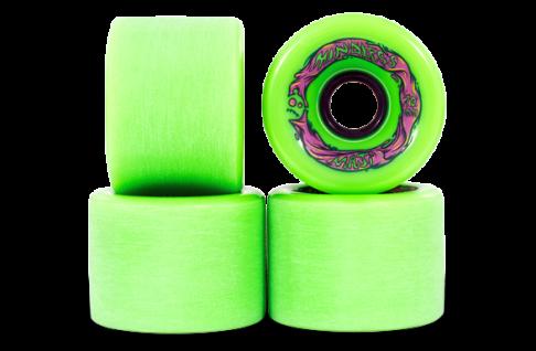 Mindless Voodoo Longboard Wheel Set (4 Rollen) Maji Green 70mm / 78A - Cruiser Skateboard Rollen - Wheels