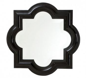 Casa Padrino Designer Luxus Wandspiegel Schwarz 50 x H 50 cm - Luxus Hotel Spiegel