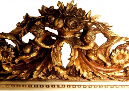 Casa Padrino Barock Wandspiegel Altweiß / Gold Antik-Look H 159 cm x B 89 cm - Edel & Prunkvoll Spiegel - Vorschau 3