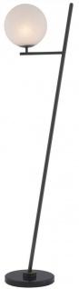 Casa Padrino Luxus Stehleuchte Bronze / Schwarz / Weiß 39 x 30 x H. 159 cm - Moderne Metall Stehlampe mit Marmorfuss und rundem Glas Lampenschirm - Luxus Qualität - Vorschau 3