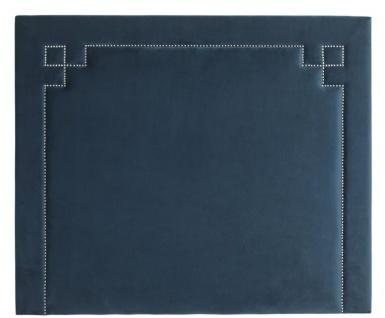 Casa Padrino Designer Bett-Kopfteil Blau 180 x H. 150 cm - Luxus Schlafzimmermöbel