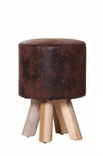 Designer Sitzhocker in Braun Durchmesser 30 cm, Höhe 45 cm - Rundhocker