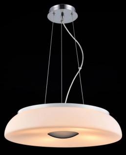 Casa Padrino Luxus Hängeleuchte Weiß / Silber Ø 50 x H. 10 cm - Wohnzimmer Hängelampe - Vorschau 3
