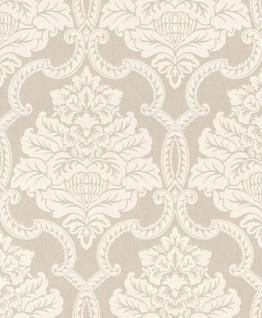 Casa Padrino Barock Textiltapete Blassrosa / Weiß 10, 05 x 0, 53 m - Barock Tapete - Deko Accessoires