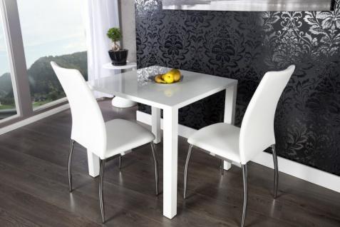 Moderner Design Esstisch Weiß Hochglanz 80 x 80 cm von Casa Padrino - Esszimmer Tisch
