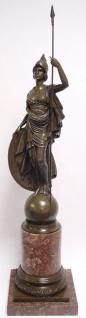 Casa Padrino Luxus Bronzefigur Athena Giustiniani Bronze / Rot 25, 5 x H. 105, 5 cm - Prunkvolle Dekofigur mit Marmorsockel