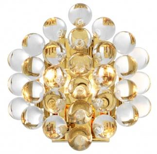 Casa Padrino Luxus Wandleuchte Gold 24, 5 x 15 x H. 24 cm - Luxus Qualität