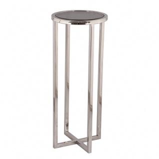 Casa Padrino Designer Beistelltisch Silber 30 x 30 x H. 75 cm - Designer Tisch Möbel
