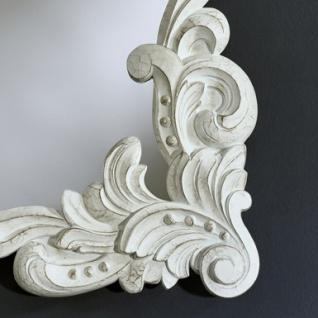 Casa Padrino Barock Wandspiegel Antik Stil Weiß 92 x 110 cm - Barocker Spiegel Antikweiß - Vorschau 2