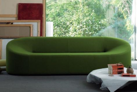 Casa Padrino Designer Sofa Grün 315 x 82 x H. 70 cm - Wohnzimmer Sofa - Loft Sofa - Hotel Sofa - Lobby Sofa - Luxus Qualität