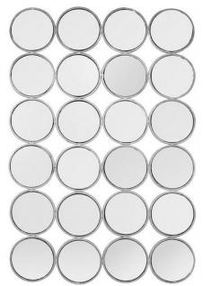 Casa Padrino Luxus Edelstahl Wandspiegel Silber 80 x H. 120 cm - Designer Spiegel - Luxus Kollektion