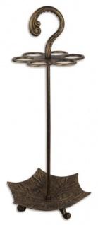 Casa Padrino Jugendstil Gusseisen Schirmständer 34, 8 x 30 x H. 79 cm - Hotel & Restaurant Accessoires