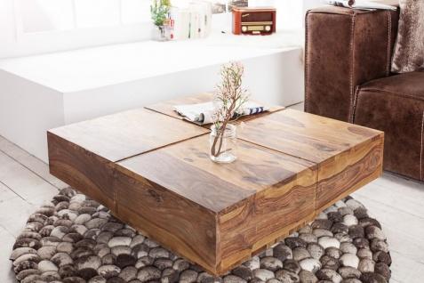 Casa Padrino Designer Massivholz Couchtisch Natur 80 x 30 cm - Salon Wohnzimmer Tisch - Vorschau 2