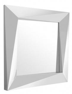 Casa Padrino Luxus Spiegel / Wandspiegel Silber 100 x H. 100 cm - Luxus Qualität
