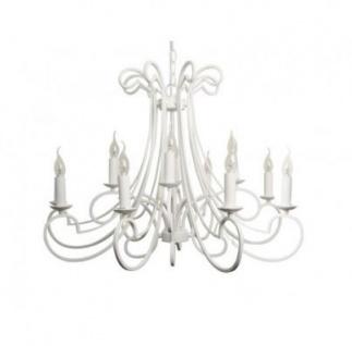 Casa Padrino Barock Decken Kronleuchter Weiß Durchmesser 112 X H 65 Cm  Antik Stil   Möbel Lüster Leuchter Deckenleuchte Hängelampe