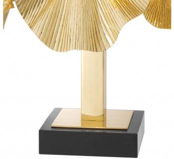 Casa Padrino Luxus Tischleuchte Messingfarben / Schwarz 55 x 38 x H. 88 cm - Designer Lampe mit Granitsockel - Vorschau 5