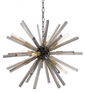 Casa Padrino Luxus Wohnzimmer Kronleuchter mit Rauchglas Durchmesser 75 cm - Designer Kollektion
