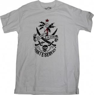 Pirate Service Skateboard T-Shirt White/ Skull