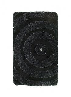 Casa Padrino Designer Bad Teppich Schwarz Bling Bling 110 x 65 cm - Badezimmer Teppich