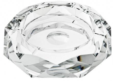 Casa Padrino Designer Kristallglas Aschenbecher 25 x H. 5 cm - Luxus Kollektion