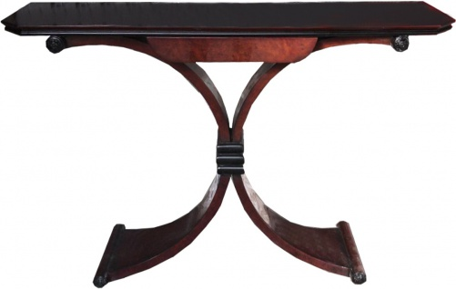 Casa Padrino Art Deco Konsole Braun mit Schublade - Beistelltisch 120 x 35 x H 95cm - Antik Stil Tisch - Möbel