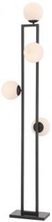 Casa Padrino Luxus Stehleuchte Bronzefarben / Weiß 40 x 34, 5 x H. 175 cm - Moderne Wohnzimmer Lampe - Luxus Kollektion