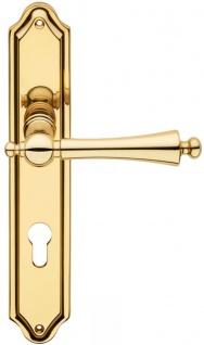 Casa Padrino Luxus Jugendstil Türklinken Set Messingfarben 13, 5 x H. 26, 3 cm - Edle Türgriffe mit Platten - Luxus Qualität - Made in Italy