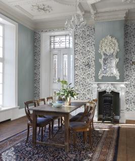 Casa Padrino Luxus Papiertapete Pflanzen Hellblau / Mehrfarbig - 10, 05 x 0, 53 m - Tapete Mustertapete Botanisch Blumen - Vorschau 2