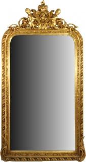 Casa Padrino Barock Wandspiegel Gold 100 x H. 186 cm - Prunkvoller Barock Spiegel mit wunderschönen Verzierungen