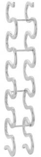 Casa Padrino Designer Weinflaschenhalter Silber 14 x 21 x H. 95 cm - Luxus Aluminium Weinregal
