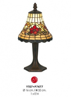 Casa Padrino Tiffany Tischleuchte Durchmesser 16 cm, Höhe 32 cm Leuchte Lampe