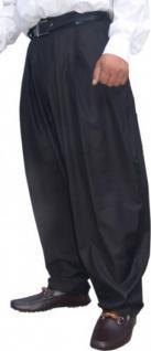 Il Padrino Moda Luxus Bundfalten Hose Schwarz Gr. 48 - Mafia Obst Designer Hose - weitgeschnitten