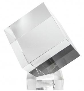 Casa Padrino Luxus Deko Acryl Würfel mit Halterung 30 x 30 x H. 30 cm - Schreibtisch Deko - Büro Deko - Wohnzimmer Deko - Luxus Qualität
