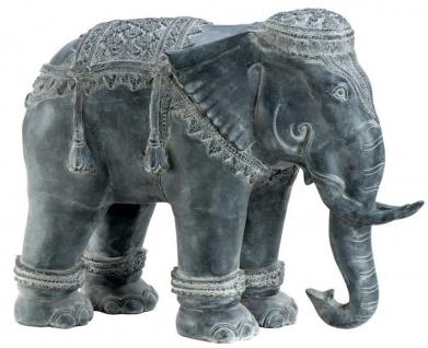 Casa Padrino Luxus Dekoration Aluminium Elefant 90 x 35 x H. 67 cm - Limited Edition