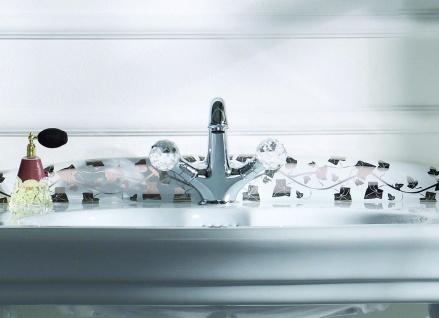Luxus Waschtischarmatur mit Swarovski Kristallglas Silber 13, 5 x H. 16, 5 cm - Luxus Bad Zubehör Made in Italy - Vorschau 5
