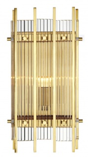 Casa Padrino Luxus Wandleuchte Gold 23 x 12 x H. 42 cm - Hotel Restaurant Wandlampe
