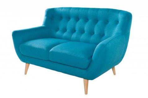 Chesterfield 2er Sofa blau aus dem Hause Casa Padrino - Wohnzimmer Möbel - Couch - Vorschau 4