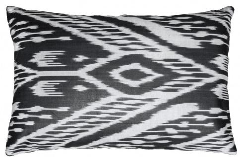Casa Padrino Luxus Kissen Schwarz / Weiß 60 x 40 cm - Wohnzimmer Deko Accessoires - Vorschau 4
