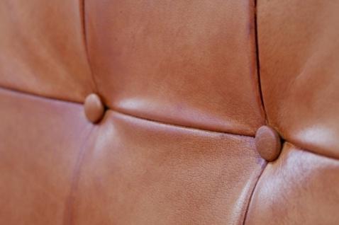 Casa Padrino Vintage Industrial Echtleder Armlehn Stuhl - ALLE FARBEN - Luxus Sessel Industrie Armlehner Design Möbel Büffelleder - Vorschau 3