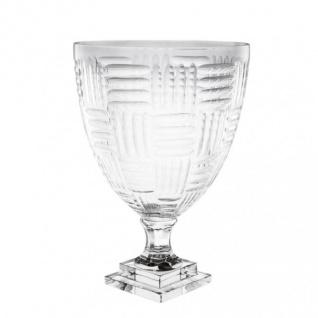 Casa Padrino Antik Stil Luxus Barock Blumenvase Glas Hotel Dekoration - Blumengefäss Standvase