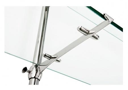 Casa Padrino Designer Doppel-Wandregal Silber 220 x 41 x H. 240 cm - Luxus Wohnzimmer Möbel - Vorschau 3