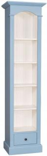 Casa Padrino Landhausstil Regalschrank Hellblau / Weiß 50 x 33 x H. 190 cm - Landhausstil Kollektion
