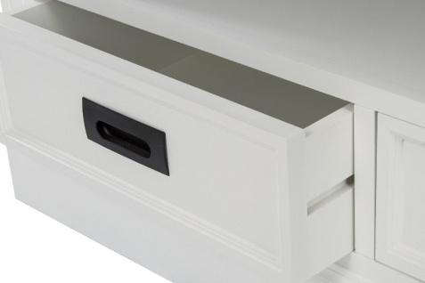 Casa Padrino Landhausstil Fernsehschrank Weiß / Braun 99 x 40 x H. 51 cm - Handgefertigter Wohnzimmer TV Schrank im Landhausstil - Vorschau 5
