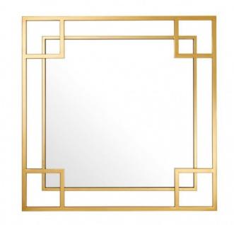 Casa Padrino Designer Luxus Wandspiegel Gold 90 x H 90 cm - Luxus Spiegel