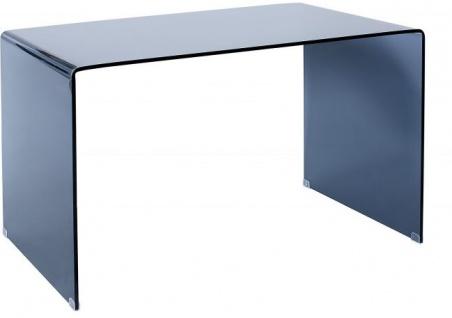 Casa Padrino Designer Schreibtisch Anthrazit Glas 120 x 70 x H.72cm - Designer Kollektion